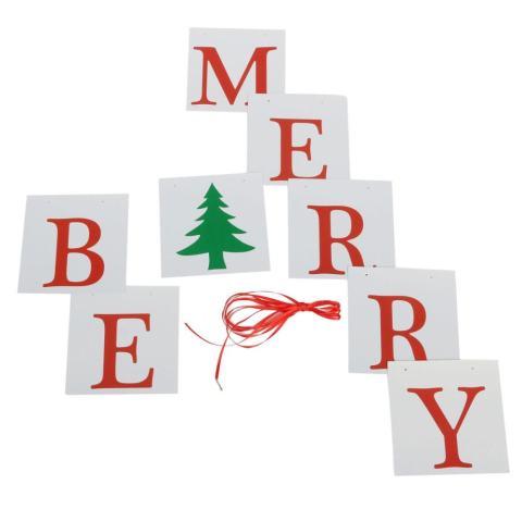 131621601685 BARU Vintage Kartu Kertas Natal Bunting Banner XMAS Pesta Hiasan Gantung-Internasional 2