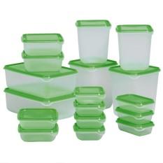 17 Buah/set Tertutup Rak Kulkas Kesegaran Makanan Wadah Penyimpanan Plastik Kotak Perlengkapan Dapur-Internasional