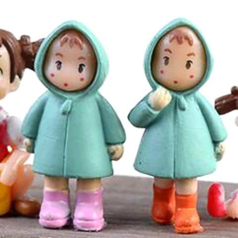 1 Pcs Lucu Mini Figurines Miniatur Perempuan Mei Resin Kerajinan Ornamen Peri Taman Gnomes Moss Terrariums Rumah Dekor-Internasional 1