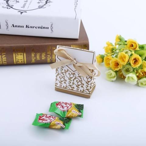2 Warna 10 Pcs Elegan Pesta Pernikahan Favor Hadiah Fashion Permen Kotak Tas Kertas Jenis Pita Diskon Besar-besaran-Internasional 2