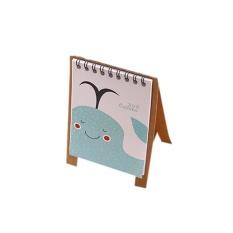 2018 Lucu Kartun Hewan Jual Meja Kalender Desktop Flip Stand Table Perencana Kantor-Intl