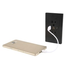 2.1A Dinding Pengisi Daya Adaptor Panel Gambar Dinding Soket Daya Stopkontak Ganda USB Soket-Internasional
