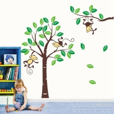 238*170cm Cheeky Monkey On Large Tree Wall Stickers Kids NurseryDecals Decor Art Vinyl
