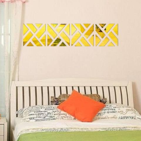 32 Pcs 3D Cermin Akrilik Stiker Dinding Buat Sendiri Seni Stiker Vinil Hiasan Rumah Yang Dapat Dilepas GD-Intl 1