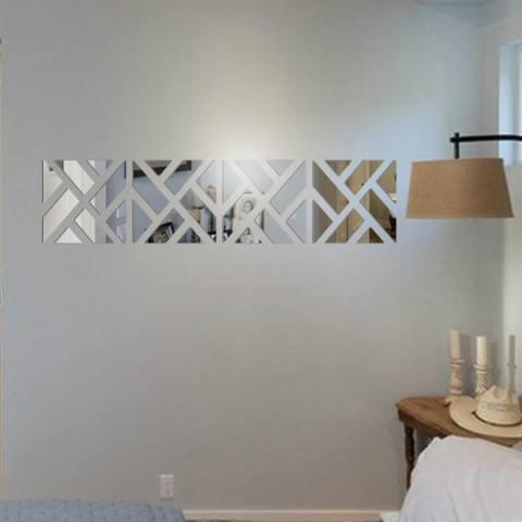 32 Pcs 3D Cermin Akrilik Stiker Dinding Buat Sendiri Seni Stiker Vinil Hiasan Rumah Yang Dapat Dilepas SL-Intl 2