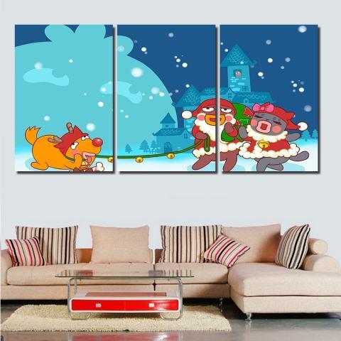 35X50 Cmhot Jual 3 Panel Modern Lukisan Dinding Bunga Gambar Bunga Ungu Home Hiasan Gambar Seni Lukisan Pada Kanvas Cetakan 1