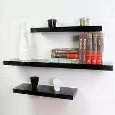 3Buah Rak Dinding Gantung Minimalis Ambalan Floating Shelves - Bisa Utk Rak TV Buku Tanaman Bunga Pot Hiasan Shelf