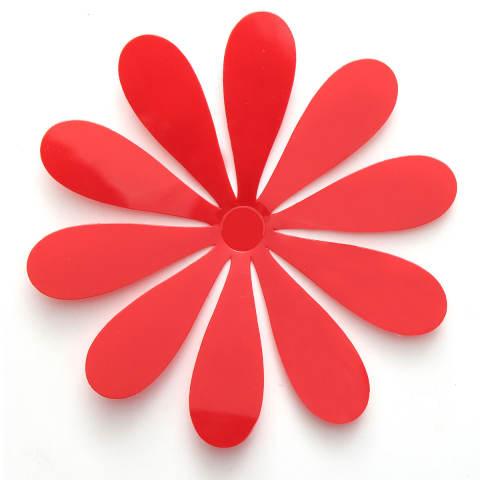 3D Stiker Tembok Seni Vinil Stiker Dekorasi Rumah Merah-Internasional 4