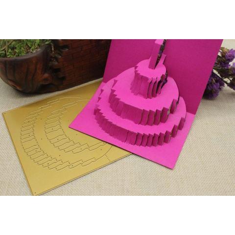 3D Logam Cutting Dies Stensil Membuat Scrapbook Hiasan Timbul Album Kertas Kartu Ketrampilan B-Internasional 2