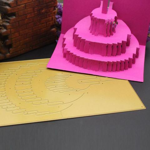 3D Logam Cutting Dies Stensil Membuat Scrapbook Hiasan Timbul Album Kertas Kartu Ketrampilan B-Internasional 1