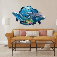 3D Shark Wall Sticker Decal Art Decor Vinyl Home Room Window Door Lukisan Dinding-Internasional