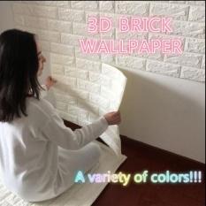 3D Tiga Dimensi Stiker Dinding Ruang Tamu Kamar Tidur-Restoran TV Latar Belakang Dinding Waterproof Self-adhesive Self- Adhesive Wallpaper Wallpaper (kuning Muda) -Intl
