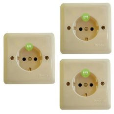 3pcs Broco Stop Kontak Inbow NEW GEE (5511U) - Cream