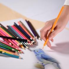 48 Warna Pra-sharpened Premium Pensil Berwarna Berbasis Set dengan Metal Case untuk Anak Dewasa Artis Seni Menggambar Sketsa Menulis Karya Seni Buku Mewarnai-Intl