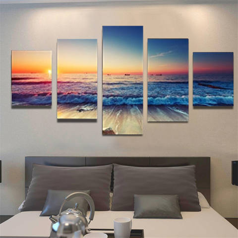 5 Panel Modern Gelombang Laut Cetak Tergantung dengan Tempat dan Masing-masing Toko Yang Menjualnya. Semoga Bermanfaat dan Terima Kasih Kategori Kanvas For Lukisan Lanskap Cuadros Ruang Tamu Tanpa Bingkai-Internasional 2