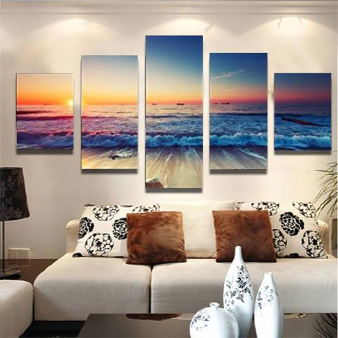 5 Panel Modern Gelombang Laut Cetak Tergantung dengan Tempat dan Masing-masing Toko Yang Menjualnya. Semoga Bermanfaat dan Terima Kasih Kategori Kanvas For Lukisan Lanskap Cuadros Ruang Tamu Tanpa Bingkai-Internasional 4