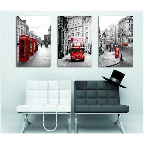 50*70CM3 Potongan Jual Lukisan Dinding Modern Lanskap London Rumah Hiasan Gambar Seni Lukisan Pada Kanvas Cetakan 1