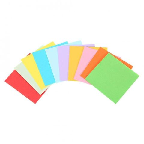 520 Pcs 10 Warna Square Folding Paper Colorful Double Sided Origami Crane Craft Lembar 5x5 Cm-Intl 2