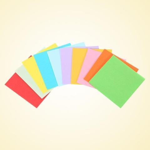 520 Pcs 10 Warna Square Folding Paper Colorful Double Sided Origami Crane Craft Lembar 5x5 Cm-Intl 3