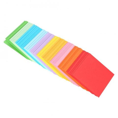 520 Pcs 10 Warna Square Folding Paper Colorful Double Sided Origami Crane Craft Lembar 5x5 Cm-Intl 1