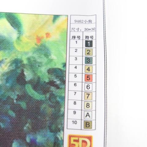 5D DIY Lukisan Berlian Contoh Cute Dog Cross Stitch Dekorasi Rumah 30*30 Cm-Intl 3