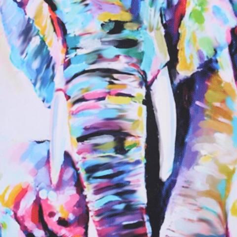 60*60 Cm HD Dicetak Frameless Watercolor Elephant Lukisan Kanvas Dinding Seni Gambar Dekorasi untuk Rumah Living Room Kamar Tidur -Intl 2