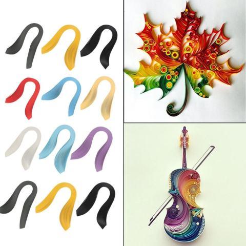 minxin 600 Stripes DIY Quilling Paper 3mm Lebar Murni Warna Kertas Origami Tangan Kerajinan (Sky Blue)-Intl 1