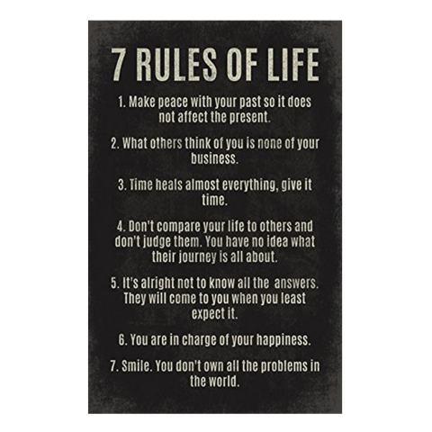 7 Aturan Hidup Poster Membaca dan Menulis Kelas 30*45-Internasional 1