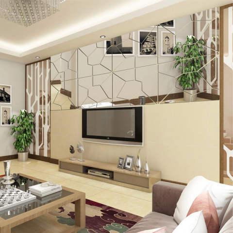 7 Pcs Pola Moire Stiker Kaca Mural Stiker Dinding Buat Sendiri Kamar Dekorasi Rumah Modern 1