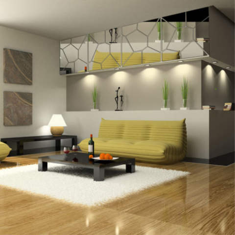 7 Pcs Pola Moire Stiker Kaca Mural Stiker Dinding Buat Sendiri Kamar Dekorasi Rumah Modern 2