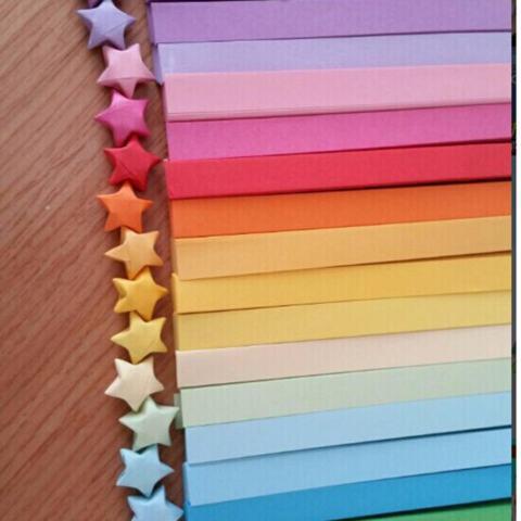 80 Pcs Origami Lucky Star Kertas Strip Folding Pita Kertas Warna 1