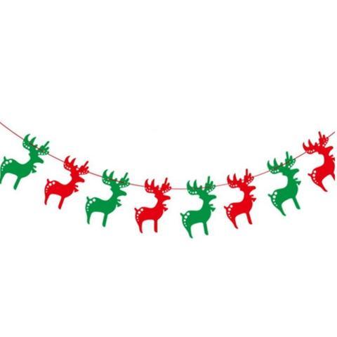 8 Pcs/strip XM Kertas Kartu Natal Elk Natal Menghias Banner Dekorasi Natal-Internasional 1