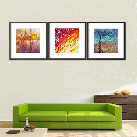 Abstrak Minyak Pohon Lukisan Modern Minimalis Ruang Keluarga Kamar Tidur Lukisan Dekoratif untuk Restoran 3 Pieces HD Gambar Minyak Lukisan Tanpa Bingkai 2