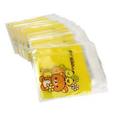 AC 100 X Bear Pola Self Adhesive Seal Bags Plastik untuk Permen Biscuit Packaging-Intl