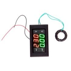 AC 500 V 100A Digital Voltmeter Ammeter LED Amp Volt Meter + CT (Shunt) Hitam-Intl