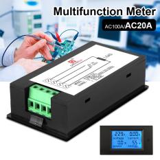 AC 80-260 V 20 Amp LCD Digital Volt Watt Tenaga Saat Ini Meteran Pengukur Amper Pengukur TEgangan Volt BI508