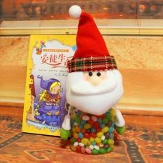 IKLAN Doll Dirancang Rusa Natal Santa Candy Jar Home Party Holiday Ornamen-Internasional