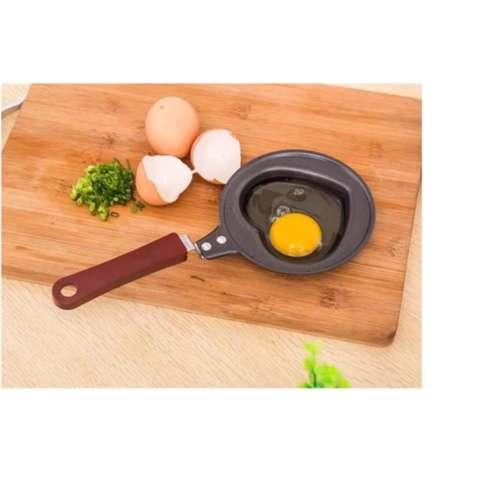Aiueo Teflon Mini Non Stick Frying Fry Pan - Wajan Masak Karakter Anti Lengket Motif Heart
