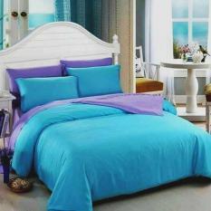 Alona Ellenov Sprei + Bedcover Polos Biru Turqoise Lilac Small Single 100x200x20cm- Biru