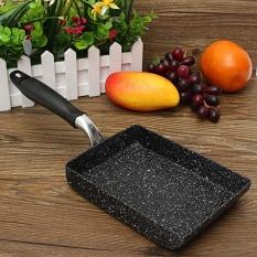 Aluminium Square Induction Heat Non-Stick Frying Pan 180x130mm Black - Intl ส่วนลด -50