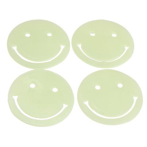 Amart Stiker Dinding Rumah Menghias Dinding Seni Plastik Neon Glow In The Dark (Wajah Tersenyum Bintang)-Intl 3