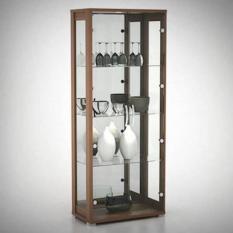 Pro Design - Lemari pajangan kaca Antony - Home Oak (Khusus kota Medan saja + Free Ongkir)