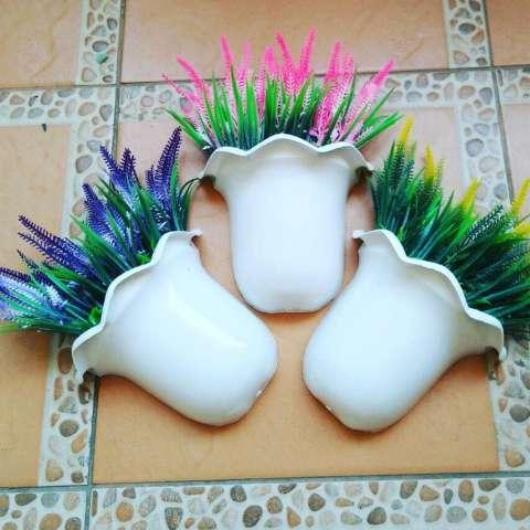 Artificial bunga lavender dengan pot dinding buat hiasan dinding 2