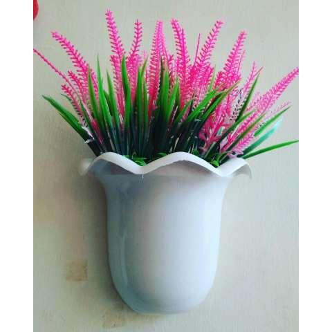 Artificial bunga lavender dengan pot dinding buat hiasan dinding 1