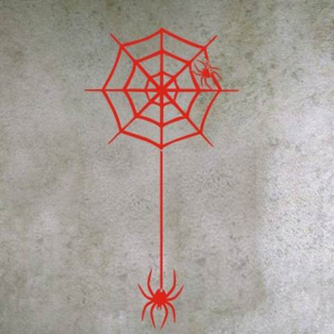 Aya Kreatif 2016 Halloween Stiker Tembok Halloween Home Perhiasan Spider Web Hiasan Bar Rumah Stiker Dinding (L) 2