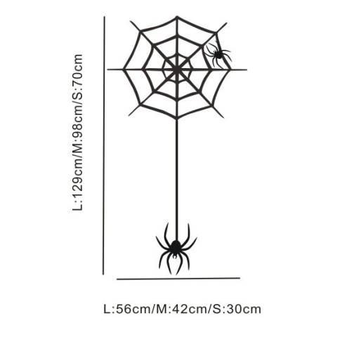 Aya Kreatif 2016 Halloween Stiker Tembok Halloween Home Perhiasan Spider Web Hiasan Bar Rumah Stiker Dinding (L) 1