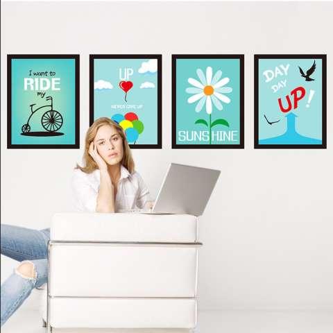 Mimosifolia Latar Belakang Bingkai Dinding Ruang Tamu Dapur Wallpaper Sticker Stiker Dinding Kamar Tidur Anak-anak PVC Seni Mural Dekorasi Rumah Prasekolah Kelas Diri Perekat Dekoratif Wallpaper-Internasional 3
