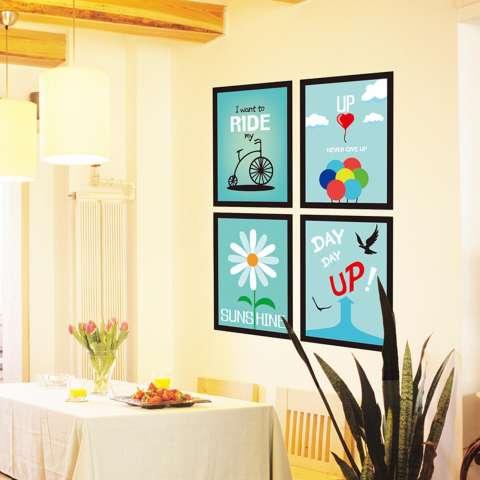 Mimosifolia Latar Belakang Bingkai Dinding Ruang Tamu Dapur Wallpaper Sticker Stiker Dinding Kamar Tidur Anak-anak PVC Seni Mural Dekorasi Rumah Prasekolah Kelas Diri Perekat Dekoratif Wallpaper-Internasional 2