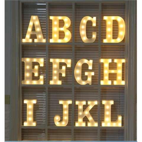 Balonasia Dekorasi Alfabet ( S ) Lampu LED Illuminated Marquee Sign - Dekorasi LED Marquee Word Sign photoprops- hiasan kamar / natal / tahun baru / Letter Sign Light Battery Operated (23cm x 4cm) 2