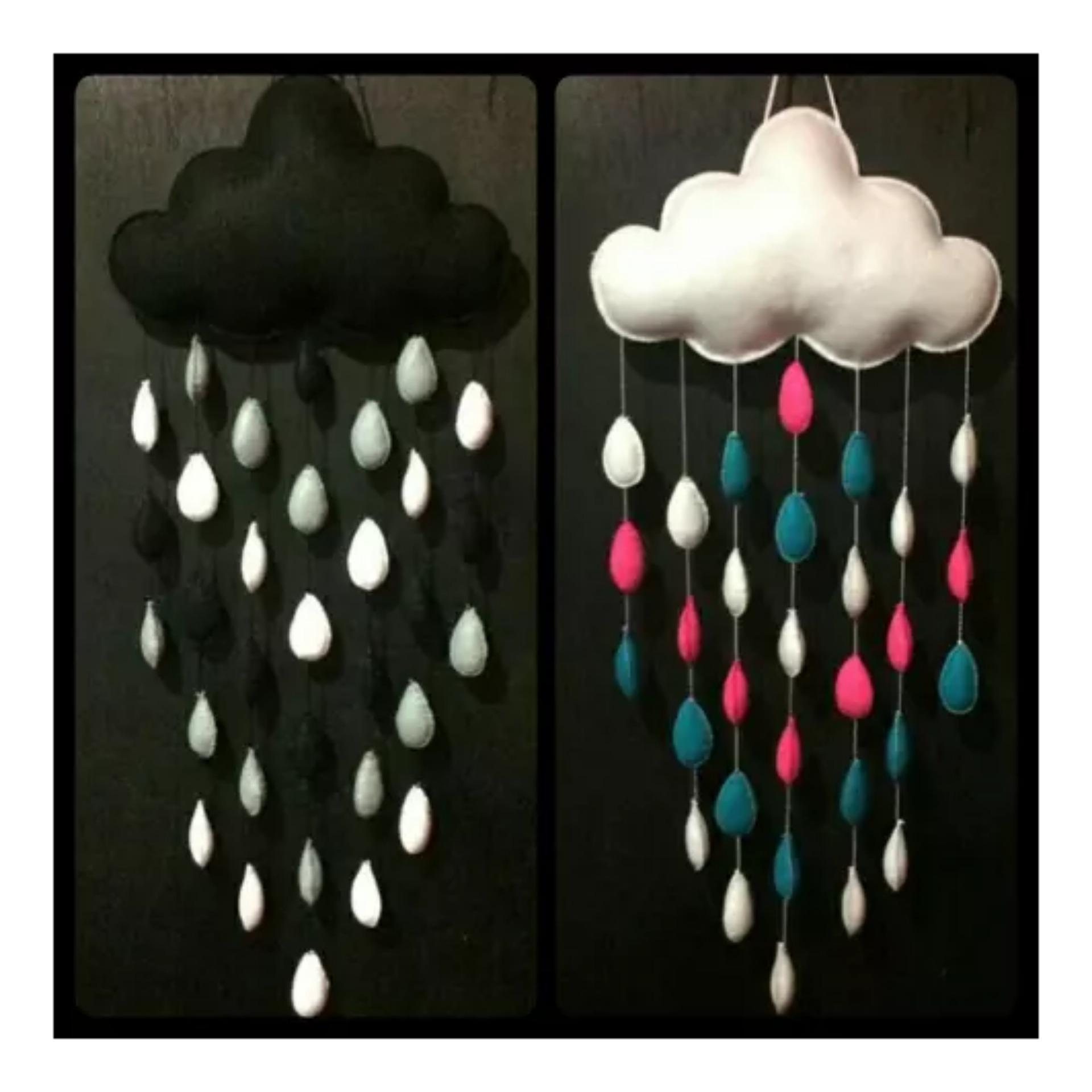 Bantal Awan Hujan Handmade, Dekorasi, Hiasan Kamar Tidur, Pernak Pernik Rumah, Rumah